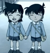 Pre-gradeschool Shinichi and Ran
