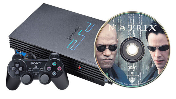 Playstation 2 and The Matrix DVD