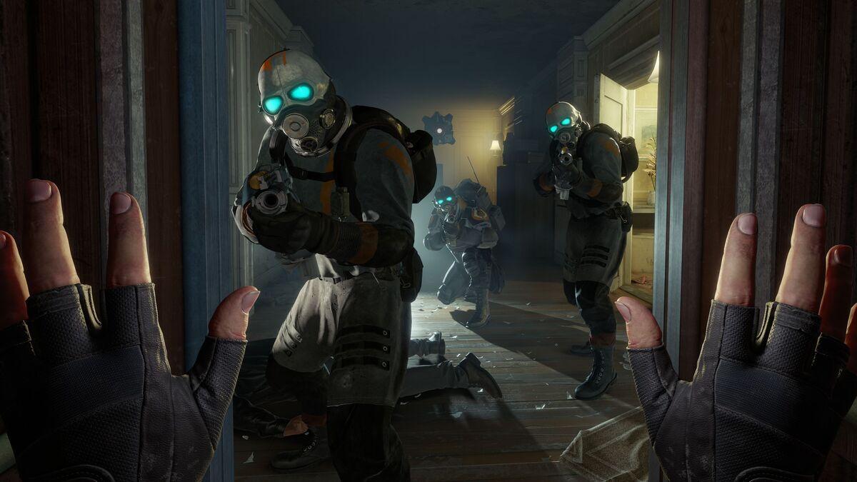 Half-Life: Alyx trades in a gravity gun for gravity gloves.