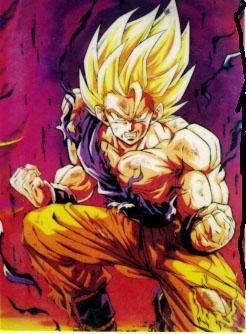 Goku super saiyan 1 half dead