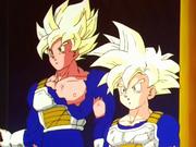 Goku and Gohan super saiyan 1