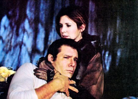 han solo and princess leia in star wars return of the jedi