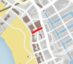 GTA V Conquistador Street Map marked