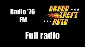 GTA 1 (GTA I) - Radio '76 FM Full radio