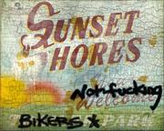 Sunset-Shores-Schild