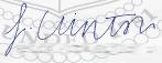 Franklin Clintons Unterschrift