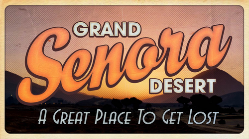 Grand-Senora-Wüste-Ansichtskarte