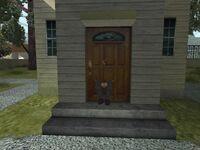Mann in der Tür Palomino Creek