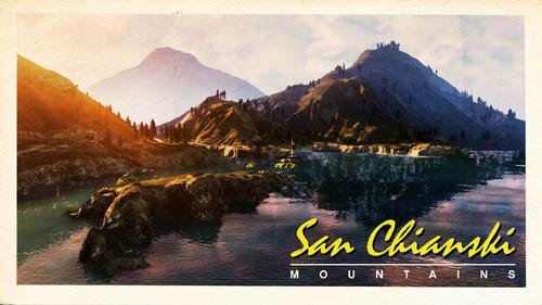 San-Chianski-Bergkette-Ansichtskarte