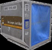 Post-OP-Luftfracht-Container hochkant