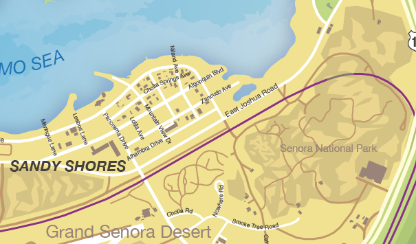 Sandy Shores Gta 5 Map Maping Resources