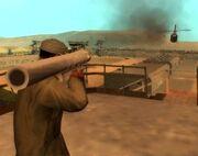SA CJ mit Stinger Raketenwerfer