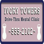 Ivory-Towers-Drive-Thru-Mental-Clinic-Schild, SA