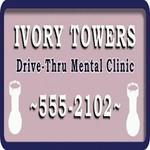 Ivory-Towers-Drive-Thru-Mental-Clinic-Schild, SA