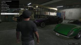 Social club garage flatbed