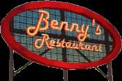 Benny's Restaurant Schild