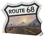 Route 68 postkarte schild