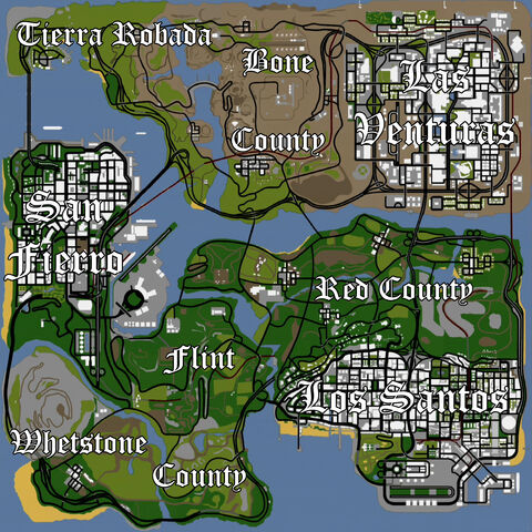 Gta San Andreas Karte.Bild San Andreas Karte Kopie Jpg Gta Wiki Fandom Powered By Wikia