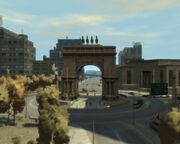 Soldier'sPlaza-GTA4-northwards