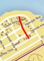 GTA V Niland Avenue Map marked
