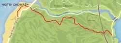 GTA V Raton Pass Map marked
