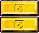 Doppel-Goldbarren-Symbol