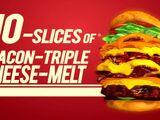 Bacon Triple Cheese Melt