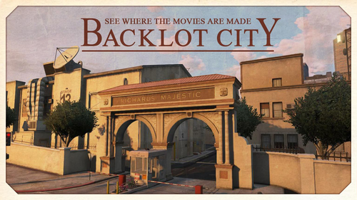 Backlot-City-Ansichtskarte