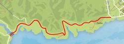 GTA V North Calafia Way Map marked