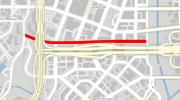 GTA V Adams Apple Boulevard Map marked