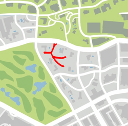 GTA V Steele Way Map marked