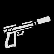 Schallgedämpfte-Pistole-Icon, SA