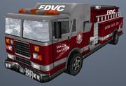 Feuerwehrwagen damaged, VC
