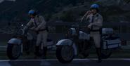 Polizeimotorrad V Michael und Trevor