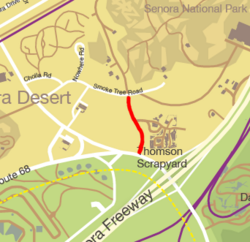 GTA V Cat-Claw Avenue Map marked