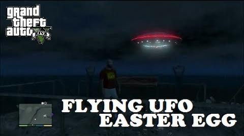 Grand Theft Auto V (GTA V) - Flying UFO Alien Ship Easter Egg - 100% Game Completion!