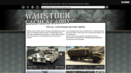 GTA-V-Handbuch Warstock Cache and Carry