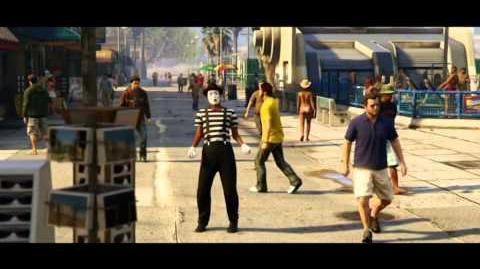 Grand Theft Auto V Next Gen & PC Trailer - Ein Vorgarten mit Zaun und ein Hund namens Skip