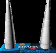 Aufblasbare Shark-Kegel