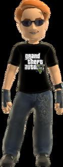 Avatar 360 Grand Theft Auto V T-Shirt V