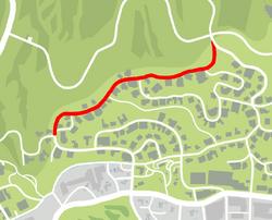 GTA V North Sheldon Avenue Map marked