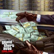 GTA O artwork geldtasche