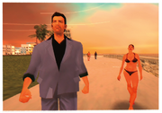 Tommy Vercetti am Strand