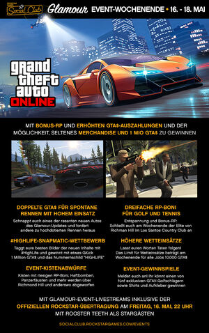 Grand Theft Auto Online Event - High Life Event