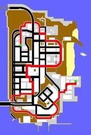 GTA III Verlorener Schund Route