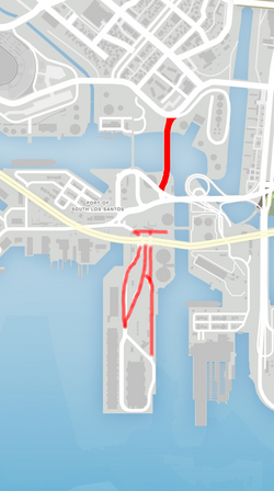 GTA V Signal Street Map marked
