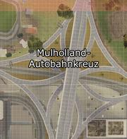 Mulholland-Autobahnkreuz-Karte, SA