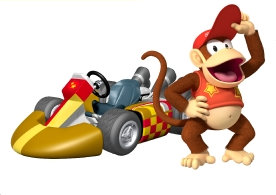 Diddy Kong Artwork MKWii