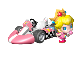 Baby Peach Artwork MKWii