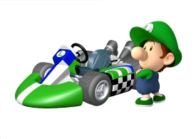 Baby Luigi Artwork MKWii